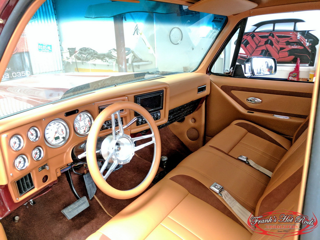 1977 Chevy Truck Custom Interior – Check out how Frank's Hot Rods Upholstery transforms a monster of a truck!